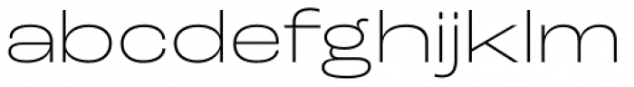 Roc Grotesk Wide Extra Light Font LOWERCASE