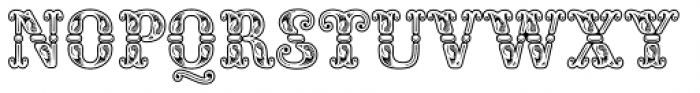 Rocaie Outline Font LOWERCASE