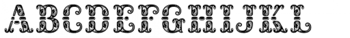 Rocaie Font UPPERCASE