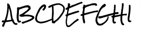 Rock Salt Pro Font UPPERCASE