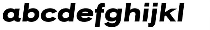 Rock Star Extra Bold Italic Font LOWERCASE