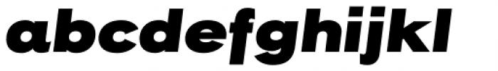 Rock Star Ultra Black Italic Font LOWERCASE