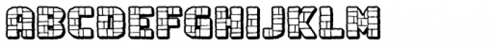 Rock Steady Outline BB Font LOWERCASE