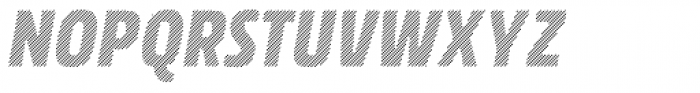 Rockeby Condensed Hatched Italic Font UPPERCASE