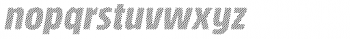 Rockeby Condensed Hatched Italic Font LOWERCASE