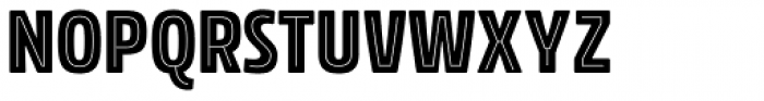 Rockeby Condensed Inline One Font UPPERCASE