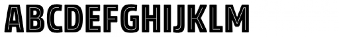 Rockeby Condensed Inline One Font LOWERCASE