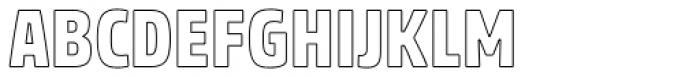 Rockeby Condensed Outline Font UPPERCASE