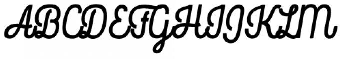 Rockeby Script One Black Font UPPERCASE