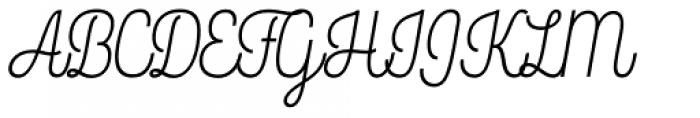 Rockeby Script One Regular Font UPPERCASE