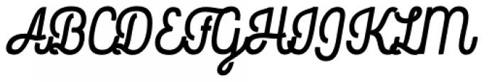 Rockeby Script Two Black Font UPPERCASE