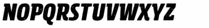 Rockeby Semi Serif Rough Black Italic Font UPPERCASE