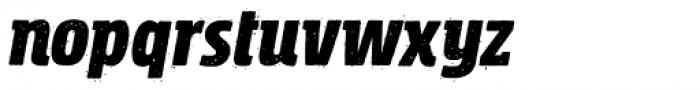 Rockeby Semi Serif Rough Black Italic Font LOWERCASE