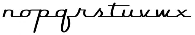 Rocket Script Font LOWERCASE