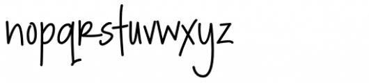 Rockford Font LOWERCASE