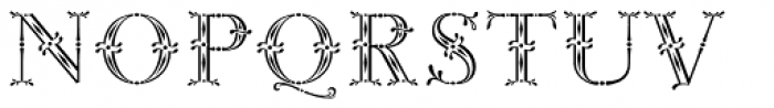 Rococo Titling Font UPPERCASE