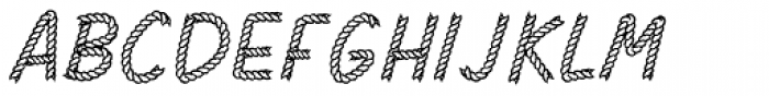 Rodeo Rope Superchunk Font UPPERCASE