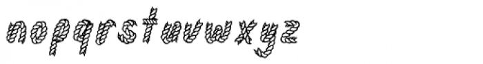 Rodeo Rope Superchunk Font LOWERCASE