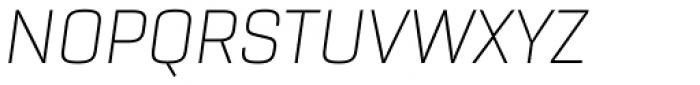 Rogan Extra Light Italic Font UPPERCASE