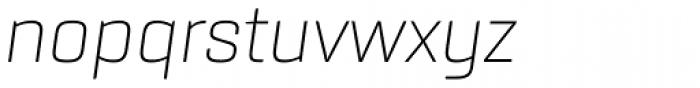 Rogan Extra Light Italic Font LOWERCASE