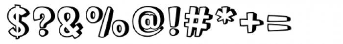 Roger Outline Font OTHER CHARS
