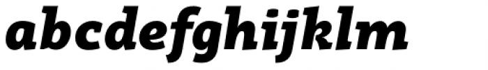 Rogliano Black Italic Font LOWERCASE