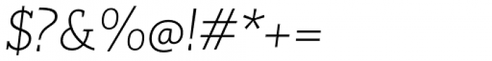 RoglianoPro Normal Extra Light Italic Font OTHER CHARS