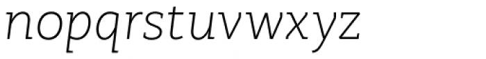 RoglianoPro Normal Extra Light Italic Font LOWERCASE