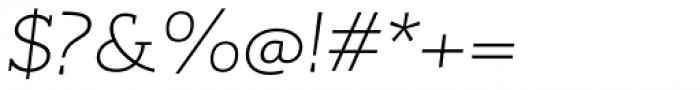 RoglianoPro Semi Expanded Extra Light Italic Font OTHER CHARS