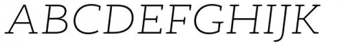 RoglianoPro Semi Expanded Extra Light Italic Font UPPERCASE