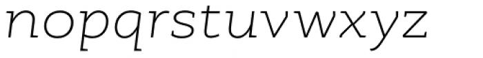 RoglianoPro Semi Expanded Extra Light Italic Font LOWERCASE