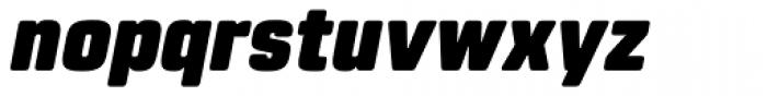 Rohn Rounded Black Italic Font LOWERCASE
