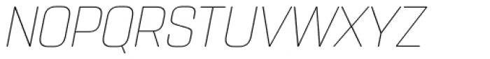 Rohn Rounded Thin Italic Font UPPERCASE