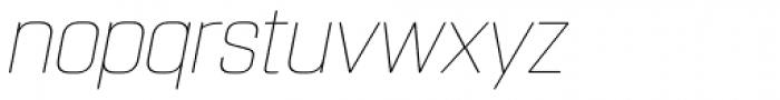 Rohn Rounded Thin Italic Font LOWERCASE