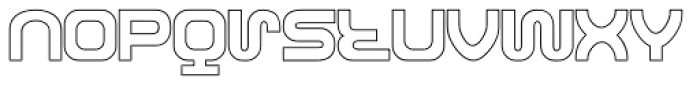 Roland TR606 Font LOWERCASE