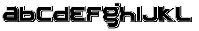 Roland TR909 Font LOWERCASE