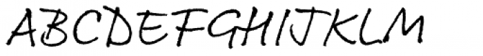 Rollerscript Rough Font UPPERCASE