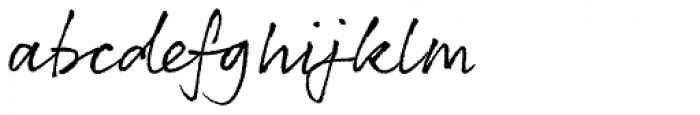 Rollerscript Rough Font LOWERCASE