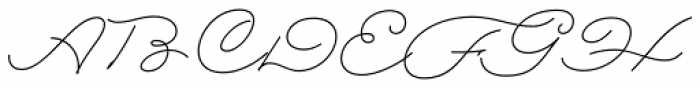 Rolling Pen Complete Font UPPERCASE