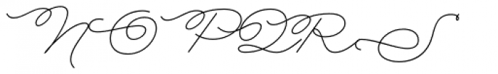 Rolling Pen Curly Font UPPERCASE