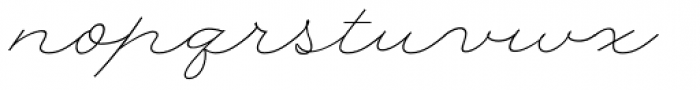 Rolling Pen Curly Font LOWERCASE