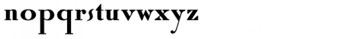 Roman Solid Alternate Font LOWERCASE