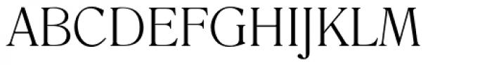 Romana EF Light Font UPPERCASE