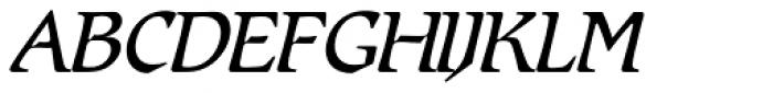Romic SH Light Italic Font UPPERCASE