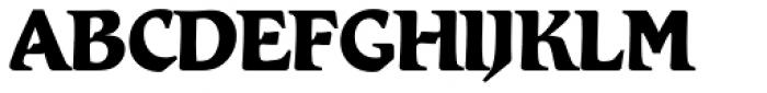 Romic SH XBold Font UPPERCASE