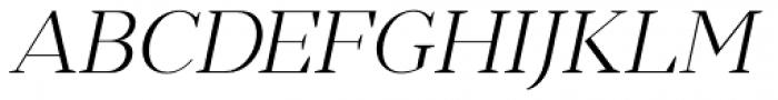 Romina extralight Italic Font UPPERCASE