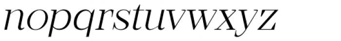 Romina extralight Italic Font LOWERCASE