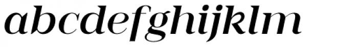 Romina medium italic Font LOWERCASE