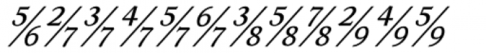 Ronaldson Italic Fractions Font UPPERCASE