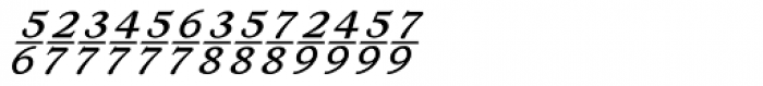 Ronaldson Italic Fractions Font LOWERCASE